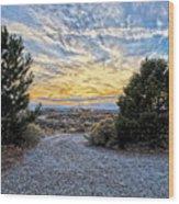 Sunset In El Prado Wood Print