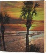 Sunset In Florida Wood Print