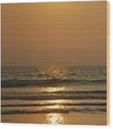 Sunset In Goa Wood Print