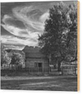 Sunset In Grafton Ghost Town Wood Print