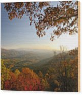 Sunset In Great Smoky Mountains Wood Print