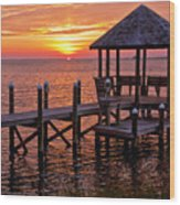 Sunset In Hatteras Wood Print