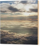 Sunset In Heaven Wood Print