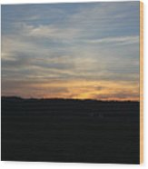 Sunset In Indiana Wood Print