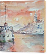 Sunset In Istanbul... Wood Print