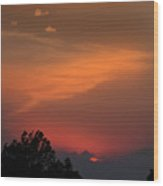 Sunset In Kansas Wood Print by Don Wolf