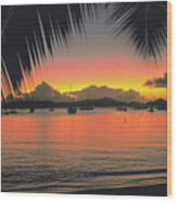 Sunset In Key West Florida Wood Print