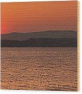 Sunset In Lassi Wood Print