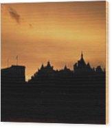 Sunset In London Wood Print