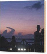 Sunset In Maldives Wood Print