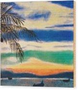 Sunset In Manuel Antonio  Wood Print