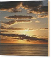 Sunset In Mexico Wood Print