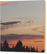 Sunset In Molalla Wood Print