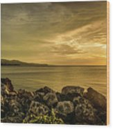 Sunset In Montego Bay Wood Print
