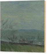 Sunset In Montmartre Paris, February - March 1887 Vincent Van Gogh 1853  1890 Wood Print