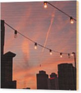 Sunset In Nashville Wood Print