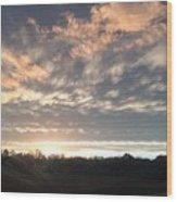 Sunset In November  Wood Print