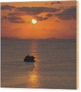 Sunset In Okinawa Wood Print