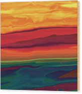 Sunset In Ottawa Valley 1 Wood Print