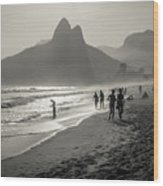 Sunset In Rio De Janeiro Wood Print