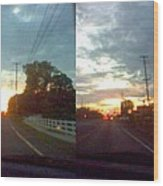 Sunset In Sequence Wood Print