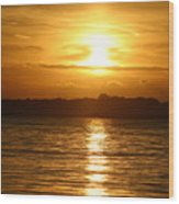 Sunset In Shelter Island  Wood Print