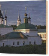 Sunset In Suzdal Wood Print