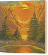 Sunset In The Canyon 1 Wood Print