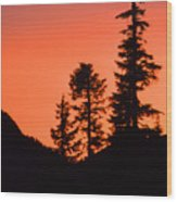 Sunset In The Mountains 2 Wood Print