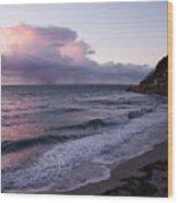 Sunset In The Ocean Wood Print