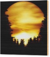 Sunset In The Round Wood Print