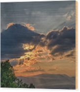 Sunset In The Shenandoah Valley Wood Print