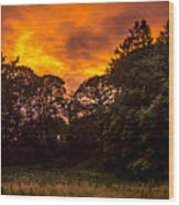 Sunset In The Shire Wood Print