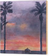 Sunset In The Tropics Wood Print