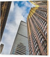 Sunset In The Urban Canyon Wood Print