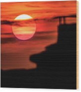 Sunset In Udine Wood Print