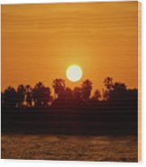 Sunset In Ventura Wood Print