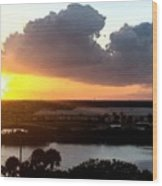 Sunset In Viera Florida Wood Print