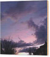 Sunset In Winter Skies  Wood Print