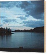 Sunset In Wyoming Wood Print