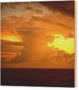 Sunset Indian Ocean Wood Print