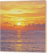 Sunset, Indian Rocks Beach, Florida, Usa Wood Print