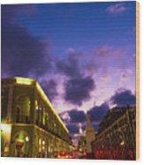 Sunset It Campeche City Downtown Wood Print