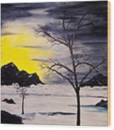 Sunset Kronos 3 Wood Print