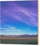 Sunset La Vega Costilla County Co Wood Print