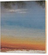 Sunset Lake In Black Sand Basin Yellowstone National Park Wood Print