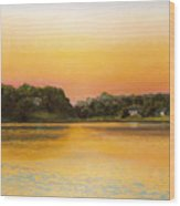 Sunset Lake Wood Print
