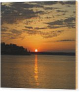 Sunset Lake Pat Mayse From Sanders Cove Wood Print