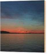Sunset Lake Superior Wood Print