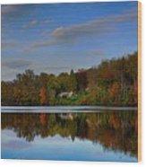 Sunset Lake View Wood Print